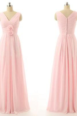 V-Neck Pink bridesmaids dresses, Sexy Mismatched bridesmaid dress, Cheap bridesmaid dresses,Bridesmaid Dresses, B05