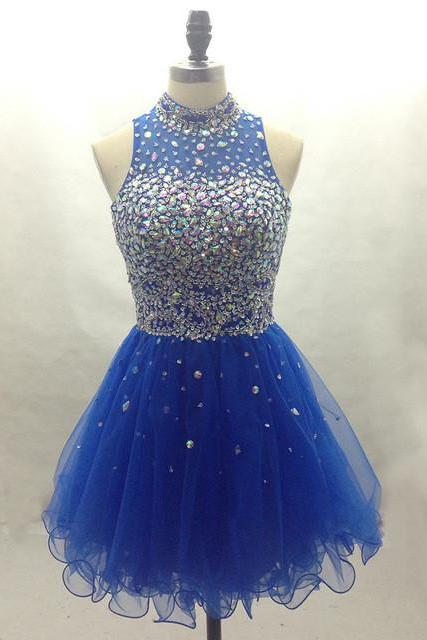 Halter Simple Beading Homecoming Dress,Sexy Party Dress,Charming Homecoming Dress,Cheap Homecoming Dress,Homecoming Dress,H19