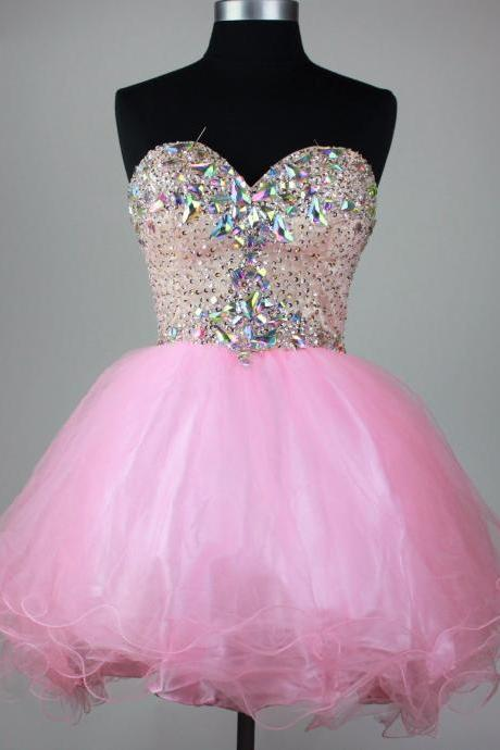 Sweetheart Beading Homecoming Dress,Short Prom Dresses,Cocktail Dress,Homecoming Dress,Graduation Dress,Party Dress,Short Homecoming Dress Z09